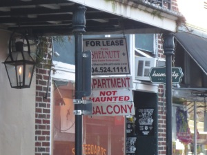 Rental advertisements state whether the property is haunted or not.