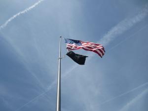 Flags over Korean War Memorial, Washington DC
