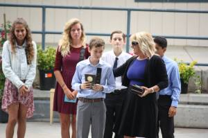Getting the Oustanding PE Student Award