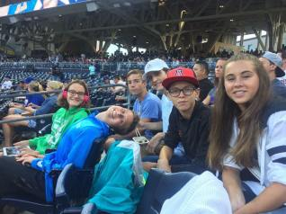 Kids at Padres game
